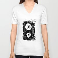 cassette V-neck T-shirts featuring cassette by barmalisiRTB
