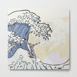 Great Wave - Silver Surfer Metal Print
