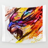 fierce Wall Tapestries featuring Fierce by Bluemisti