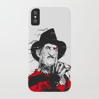freddy krueger iPhone & iPod Cases featuring Freddy by Akyanyme