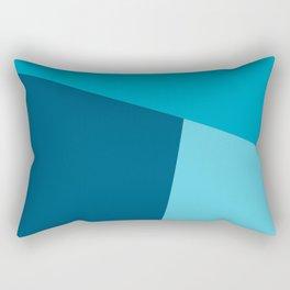 dégradé trapèze bleu tendre Rectangular Pillow