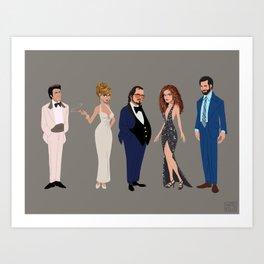 American Hustle Line Up Art Print