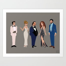 American Hustle Line Up Art Print