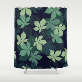 Green Leaves 1 Shower Curtain