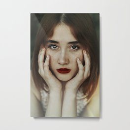 Freckle beauty Metal Print