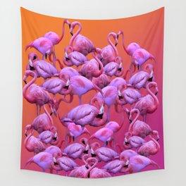 Flamingos Sunrise Wall Tapestry