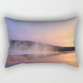 sunset at grand prismatic Rectangular Pillow