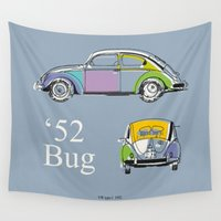 bug Wall Tapestries featuring '52 Bug by k_design