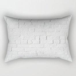 White Brick Wall Background Rectangular Pillow