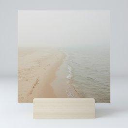 Where the Surf Meets the Sand | Muskegon, MI Mini Art Print