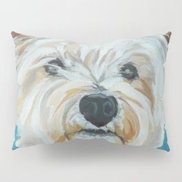 Jesse the Beautiful West Highland White Terrier Dog Portrait Pillow Sham