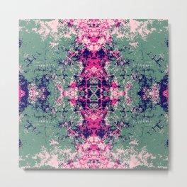 Honares - Abstract Boho Chic Tie-Dye Style Mandala Art Metal Print