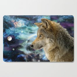 Wolf and Planets Cutting Board
