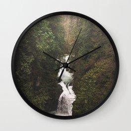 British Columbia Waterfall Wall Clock