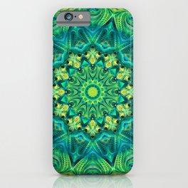 Flower Of Life Mandala (Chartreuse Dream) iPhone Case