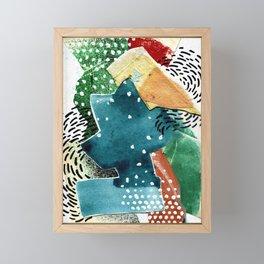 Turquoise Swirl Framed Mini Art Print