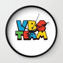 VBS Team Funny Vacation Bible School Christian Camp Humor Gift Pun Design Wall Clock