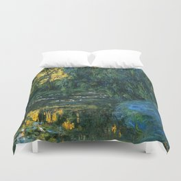 Claude Monet Dark Water  Lilies Duvet Cover