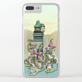Paradise Waterfalls Clear iPhone Case