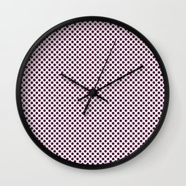 Blackberry Polka Dots Wall Clock