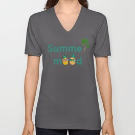 Summer Mood Pineapple Palm Trees Unisex V-Neck