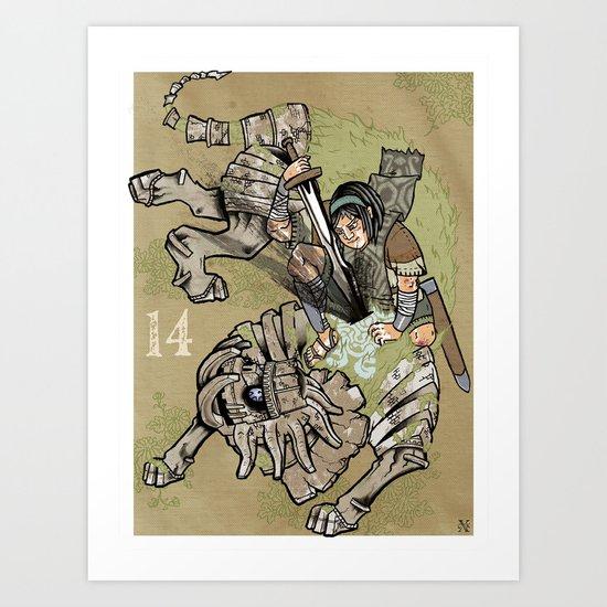 fourteenth colossus Art Print