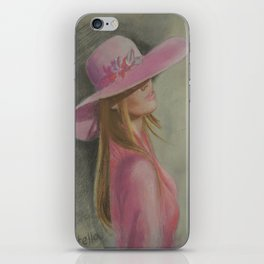 Lady in the hat iPhone Skin
