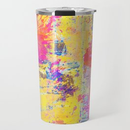 Always Look On The Bright Side - Abstract, textured painting Travel Mug