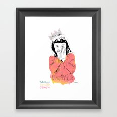 The Invisible Crown Framed Art Print