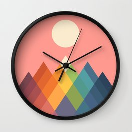 Rainbow Peak Wall Clock