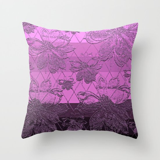 Pink Floral Decorative Pillows : Pink Floral Celebration Throw Pillow by Saundra Myles Society6
