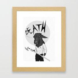 Axe Wielding Framed Art Print