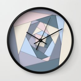 Geometric Layers of Color Wall Clock