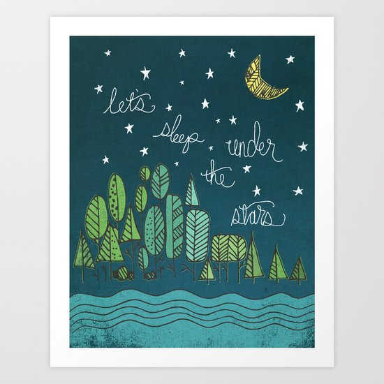 ...under the stars Art Print