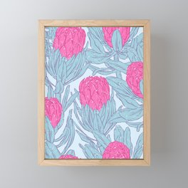 King Protea Framed Mini Art Print