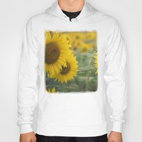sunflowers Hoodies featuring Sunflowers by Michelle Lauren Steinberg