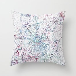 Charlotte map Throw Pillow