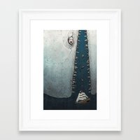 dick Framed Art Prints featuring Moby Dick by Diane Leonard