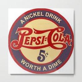 Vintage Pepsi  Metal Print