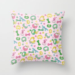 We love collars and bow ties Throw Pillow