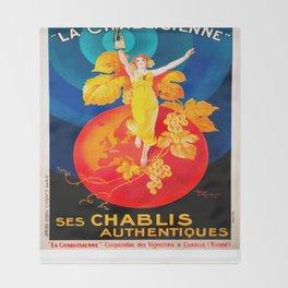 Vintage poster - Ken I Kohojo Tablets Throw Blanket