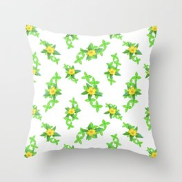 Airy Floral Pattern Throw Pillow