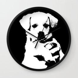 little cute puppy dog Wall Clock