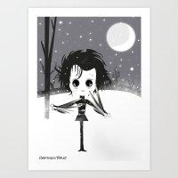 edward scissorhands Art Prints featuring EDWARD SCISSORHANDS by Raimondo Tafuri