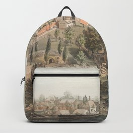 Vintage Pictorial Map of Mount Vernon VA (1859) Backpack