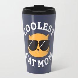 Coolest Cat Mom Travel Mug