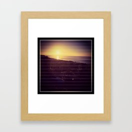 Sunrise at cabos Framed Art Print