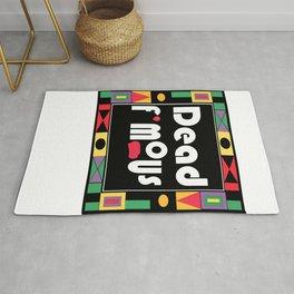 DeadFamous MULTI Colour print design Rug