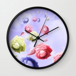 Morning Roses Wall Clock