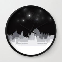 Fireworks at night. Wall Clock
